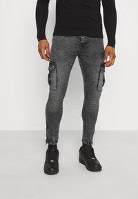 Brave Soul - HARRISON - Cargo trousers - charc - 0