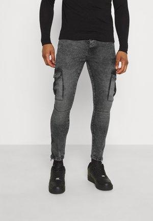 HARRISON - Pantaloni cargo - charc