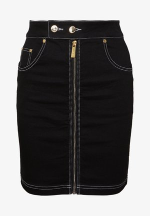 FRONT ZIP SKIRT - Pencil skirt - black