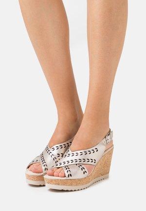 Sandales à plateforme - puder