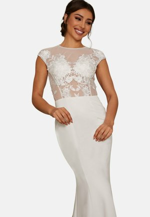 SHEER FLORAL BRIDAL WEDDING - Occasion wear - white