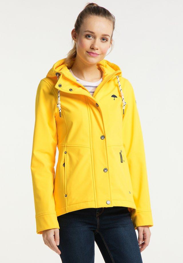Softshellová bunda - gelb