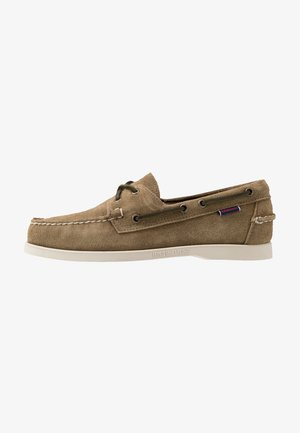 DOCKSIDES PORTLAND - Boat shoes - green military