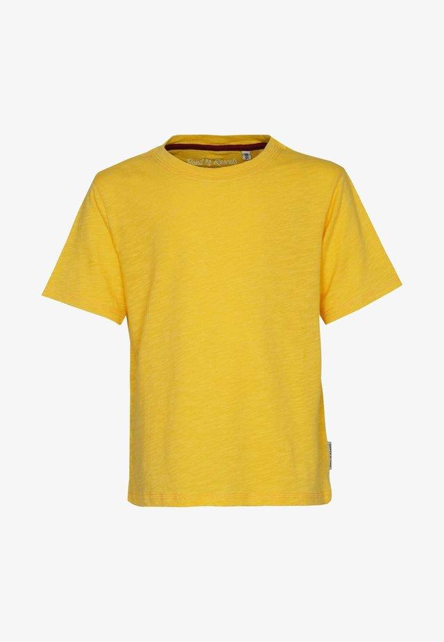 T-shirts basic - yellow