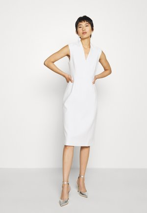 HIGH COLLAR DRESS - Shift dress - snow white