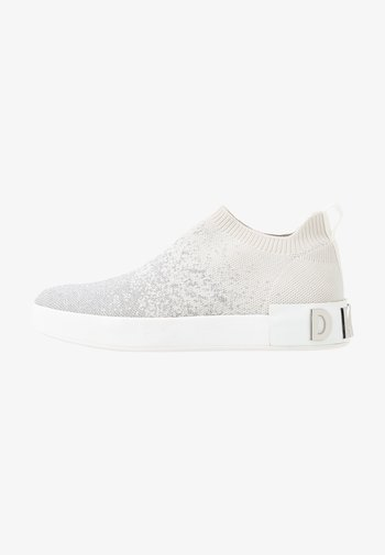 SAYDA SOCK  - Slip-ons - silver/white