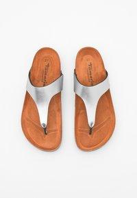 Tamaris GreenStep - T-bar sandals - metallic - 5