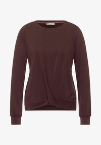 Street One - MIT SILK LOOK - Long sleeved top - rot - 3