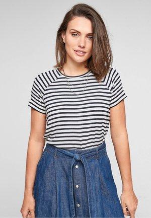 HAUT EN JERSEY - Print T-shirt - navy stripes