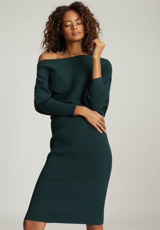 LARA - Shift dress - dark green