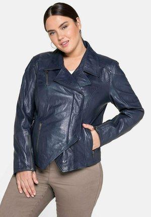 Leather jacket - nachtlila