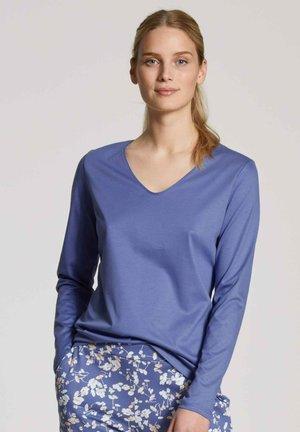 V-NECK - Long sleeved top - bleached denim