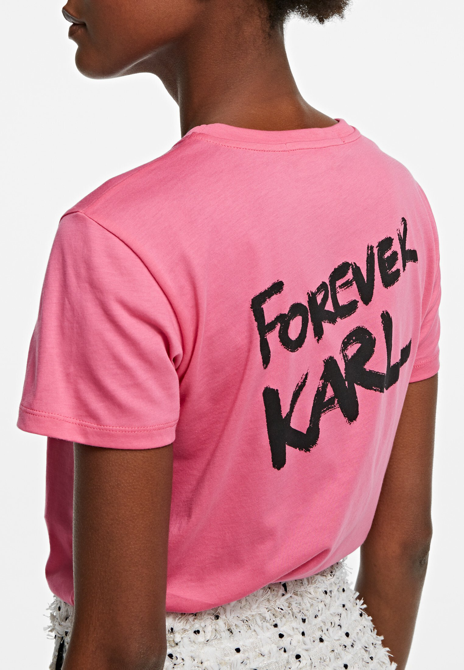 Reliable Women's Clothing KARL LAGERFELD Print T-shirt carmine rose QKl2aSTVs