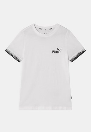 AMPLIFIED UNISEX - Camiseta estampada - puma white