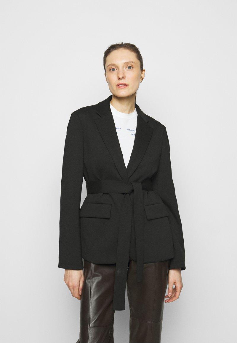 Proenza Schouler White Label - SUITING TIE WAIST - Blazer - black