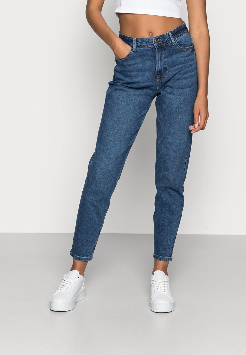 Pieces - PCKESIA MOM - Jeans relaxed fit - dark blue denim