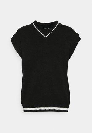 HENNESSEY VARSITY KNIT VEST - Stickad tröja - black