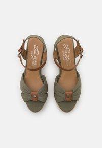TOM TAILOR - Sandalen met plateauzool - khaki - 5