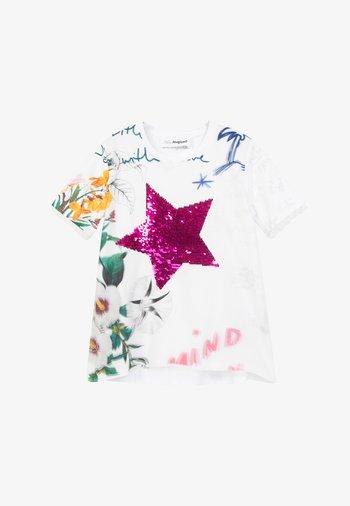 AMPARO - Print T-shirt - white