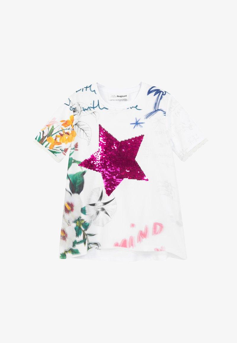 Desigual - AMPARO - Print T-shirt - white