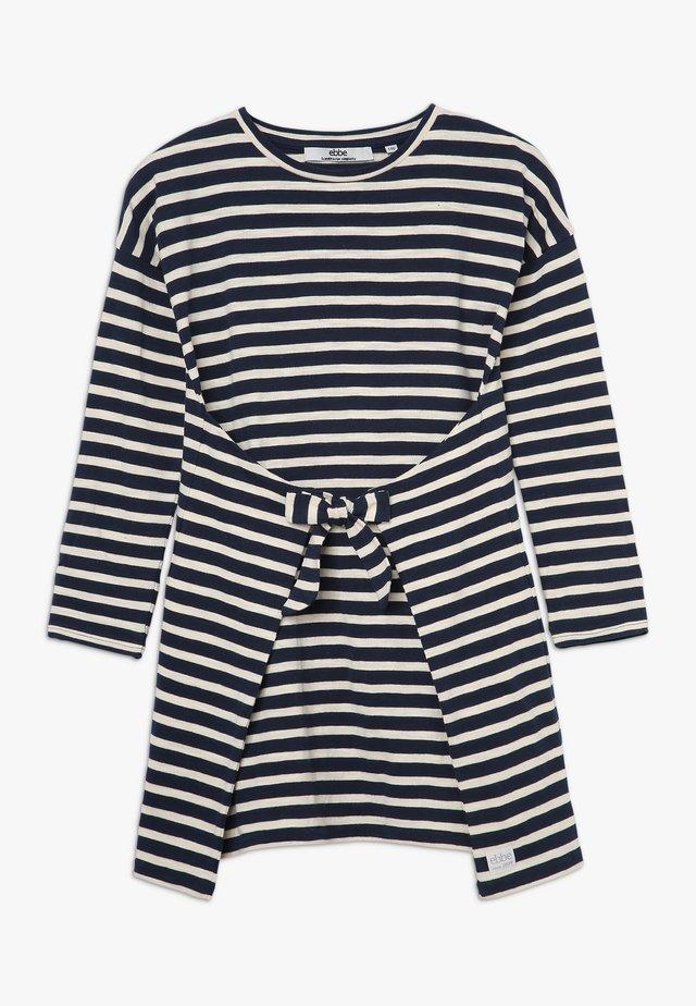 MELISSA DRESS - Vestito di maglina - navy/sand