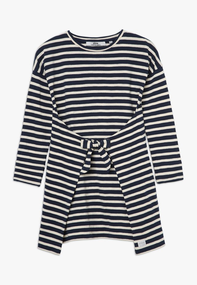 MELISSA DRESS - Jerseykleid - navy/sand