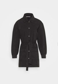 JDY - JDYSANSA BELTED JACKET  - Short coat - black denim - 4