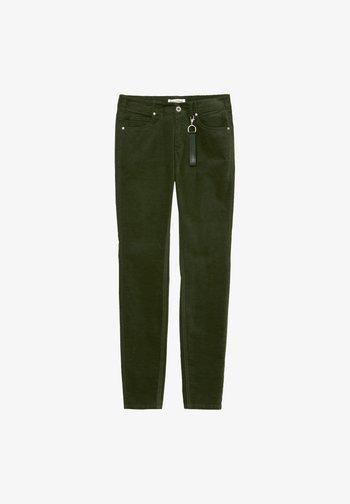 MODELL MAVAS MID WAIST AUS TWILL - Trousers - green