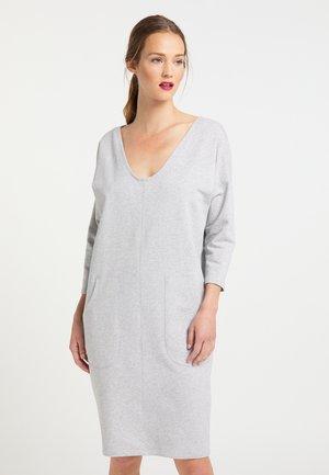 Jersey dress - grau melange