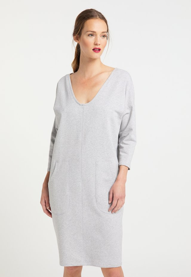 Jersey dress - grau melange