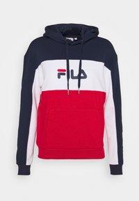Fila - AQILA BLOCKED HOODY - Felpa - true red/black iris/bright white - 4