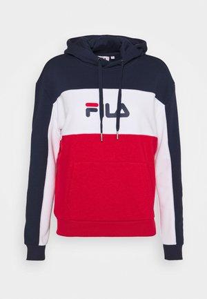 AQILA BLOCKED HOODY - Sweatshirt - true red/black iris/bright white