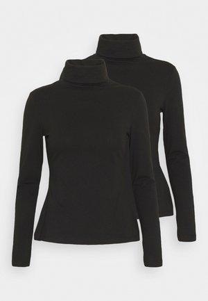 2 PACK - Langærmede T-shirts - black