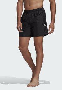 adidas Performance - SOLID CLASSICS SL PRIMEGREEN SWIM SHORTS - Swimming shorts - black - 0