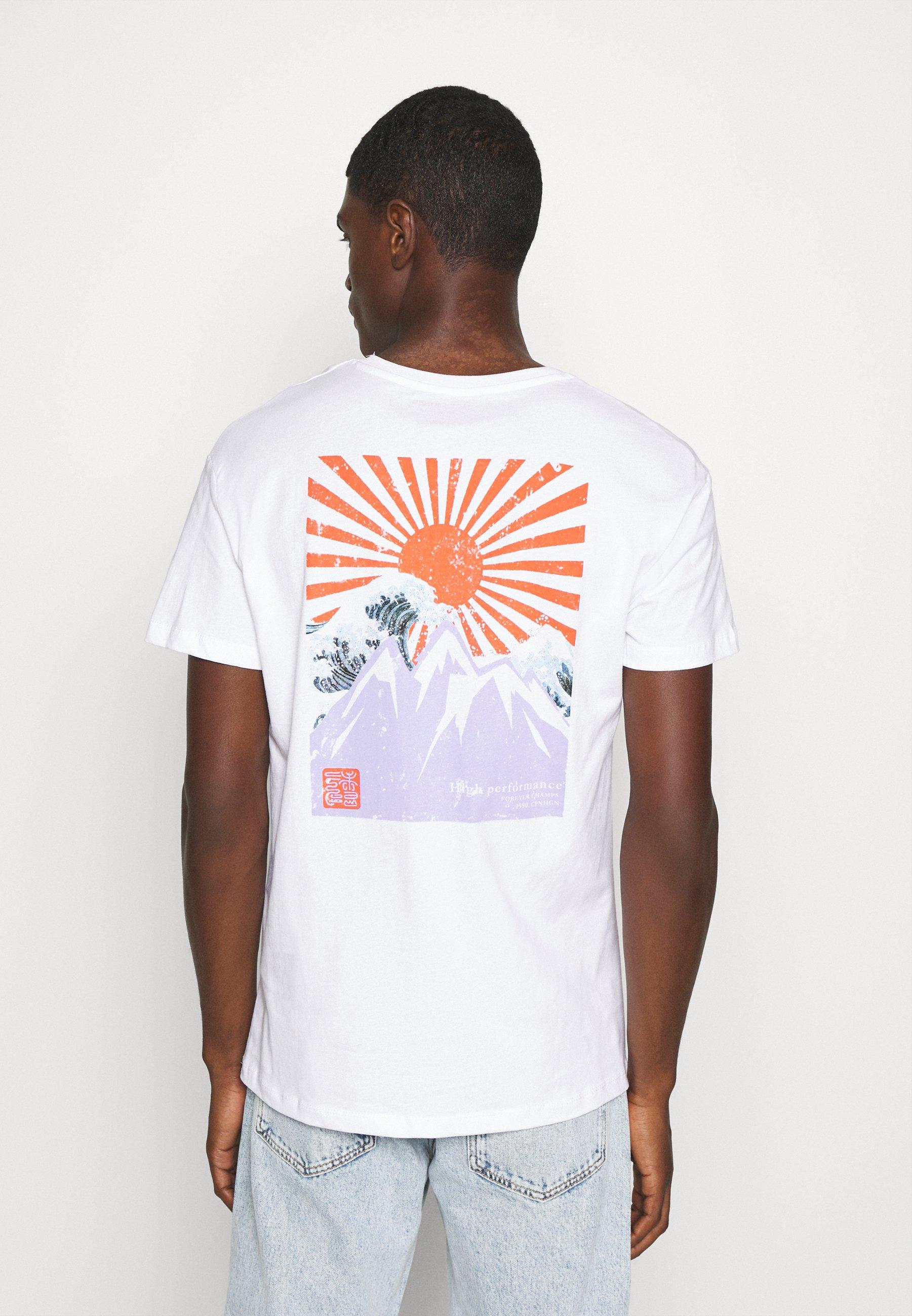 Jack & Jones JORMAXIS TEE CREW NECK  - Print T-shirt - cloud dancer 8wRJv
