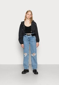 BDG Urban Outfitters - LONG SLEEVE V NECK - Long sleeved top - black - 1