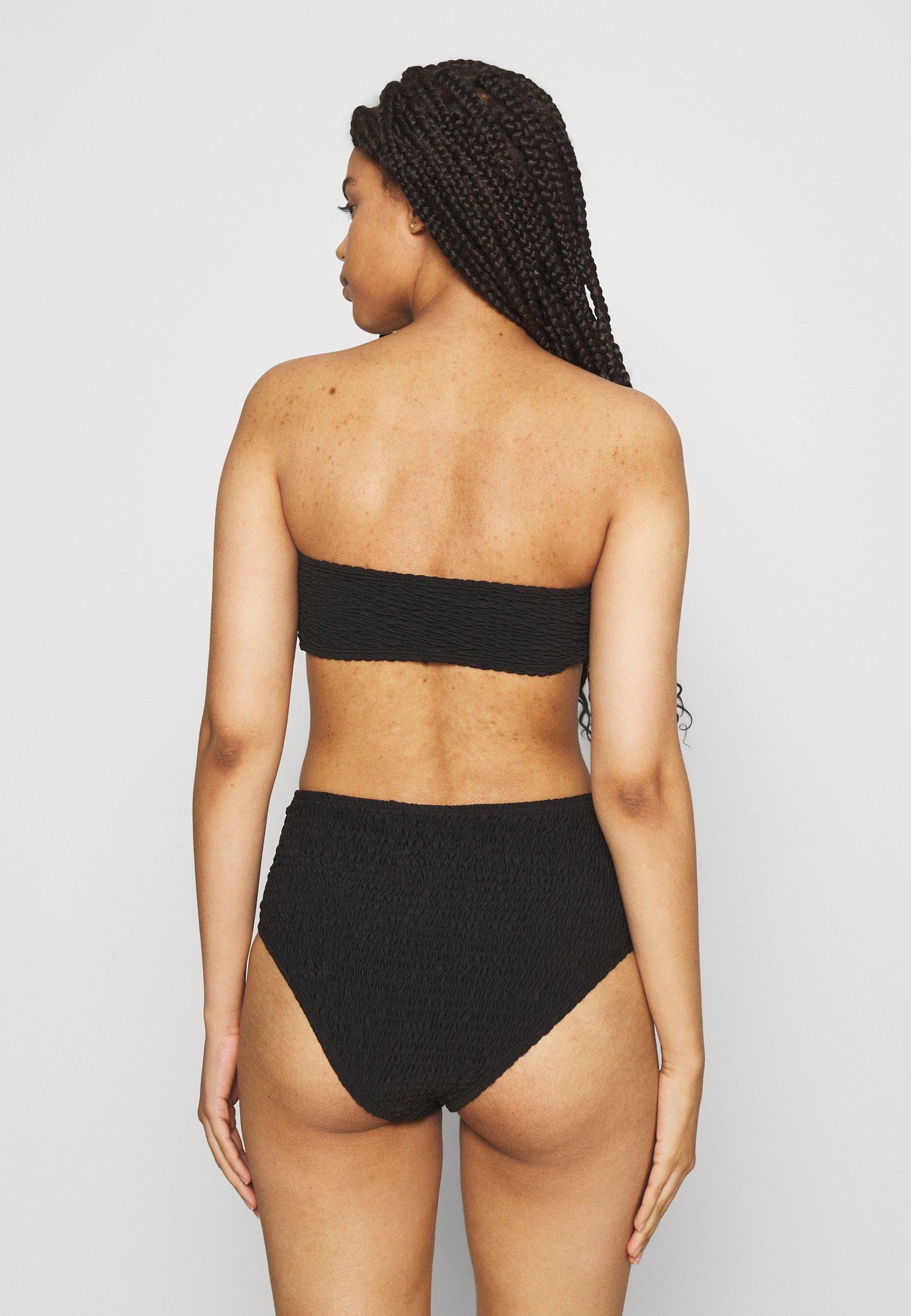 Women BANDEAU AND HIGH LEG HIGH WAIST BRIEF SET - Bikini