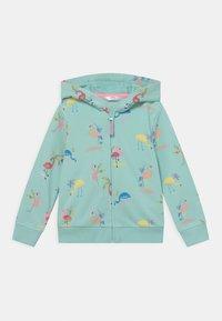 Marks & Spencer London - FLAMINGO HOODY - Zip-up sweatshirt - aqua mix - 0