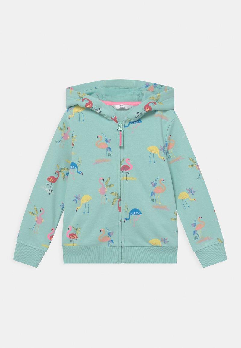 Marks & Spencer London - FLAMINGO HOODY - Zip-up sweatshirt - aqua mix