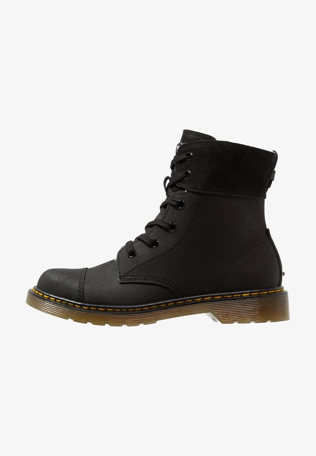 AIMILITA - Šněrovací kotníkové boty - black