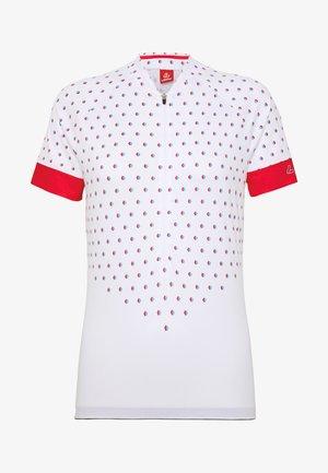 BIKE RISE UP - T-Shirt print - white/flamenco