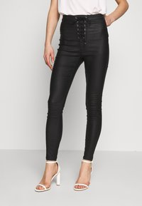 Missguided - VICE COATED - Jeans Skinny Fit - black - 0