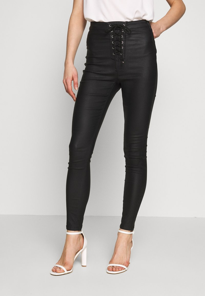 Missguided - VICE COATED - Jeans Skinny Fit - black
