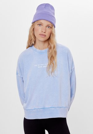 MIT PRINT UND STICKEREI  - Sweatshirts - light blue