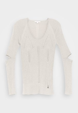 CUT OUT TOP - Sweter - beige