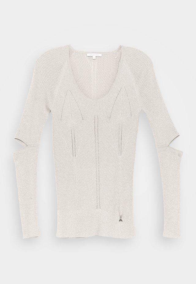 CUT OUT TOP - Stickad tröja - beige