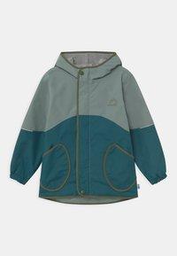Finkid - AARRE UNISEX - Waterproof jacket - trellis/bronze green - 0