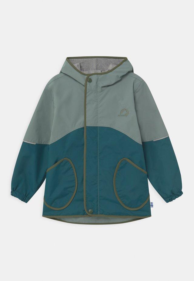 AARRE UNISEX - Vodotěsná bunda - trellis/bronze green