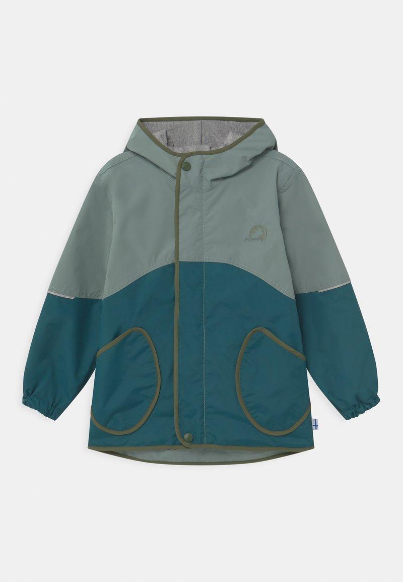 Finkid - AARRE UNISEX - Waterproof jacket - trellis/bronze green
