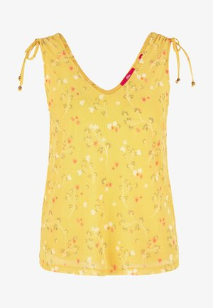 TOP MIT FLORALEM PRINT - Blouse - yellow aop